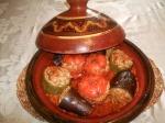 Tajine aux légumes farcis au riz et viandehachée