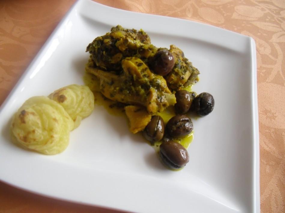 Lapin aux olives au safran
