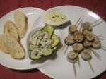 Sardines et huîtres à la crème persillée