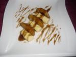 Pommes caramélisées au vinaigre balsamique et bouchons de glace vanille